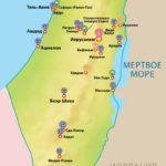 Израиль карта мест достопримечательности