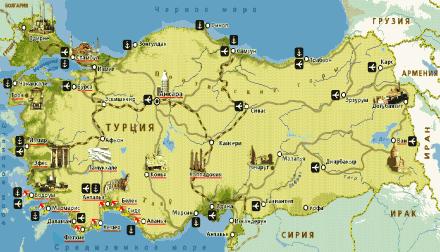 Карта портов Турции