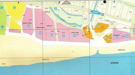 Карта курорт Лара Турция