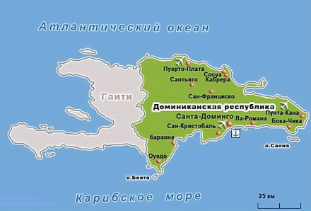 карта доминиканская республика